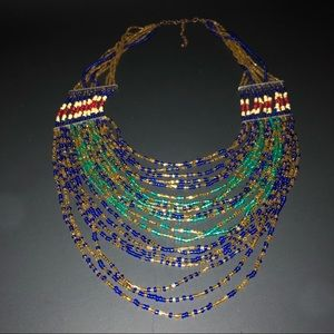 Jewelry - Multi- Colored String Beaded Necklace